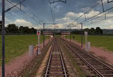 Trackway train simulator